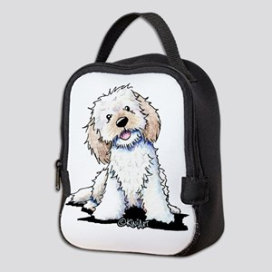 Smiling Doodle Puppy Neoprene Lunch Bag