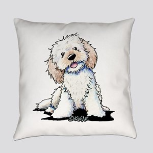 Smiling Doodle Puppy Everyday Pillow
