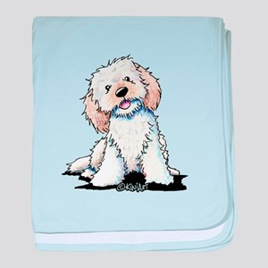 Smiling Doodle Puppy baby blanket