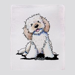 Smiling Doodle Puppy Throw Blanket