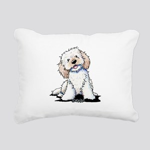 Smiling Doodle Puppy Rectangular Canvas Pillow