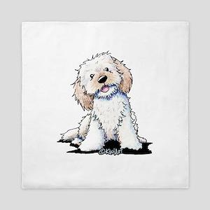 Smiling Doodle Puppy Queen Duvet