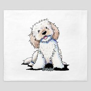 Smiling Doodle Puppy King Duvet