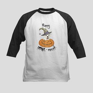 Halloween Westie Kids Baseball Jersey