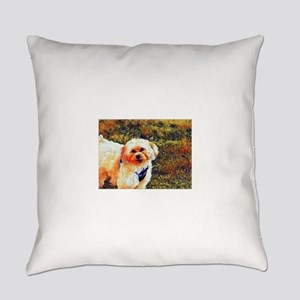 Copper the Morkie Everyday Pillow
