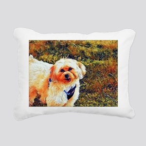 Copper the Morkie Rectangular Canvas Pillow