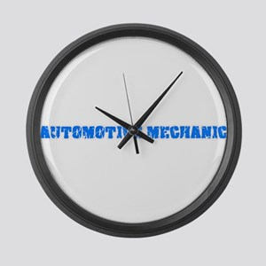Automotive Mechanic Blue Bold Des Large Wall Clock