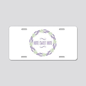 Home Sweet Home Wreath Aluminum License Plate