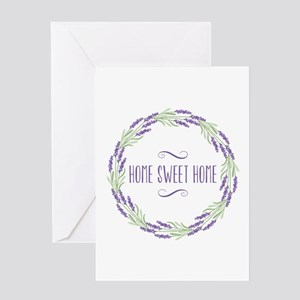 Home Sweet Home Wreath Greeting Cards