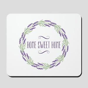 Home Sweet Home Wreath Mousepad