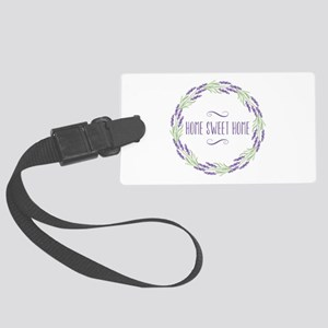 Home Sweet Home Wreath Luggage Tag