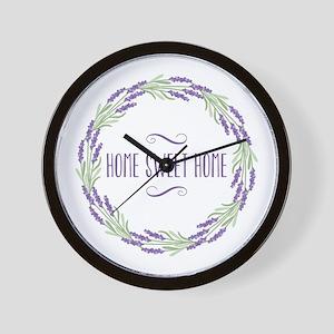 Home Sweet Home Wreath Wall Clock