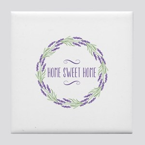 Home Sweet Home Wreath Tile Coaster