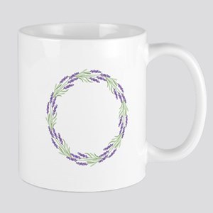 Lavender Wreath Mugs