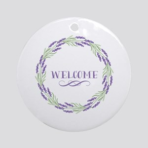 Welcome Wreath Round Ornament