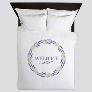 Welcome Wreath Queen Duvet