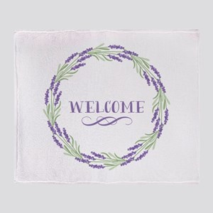 Welcome Wreath Throw Blanket
