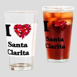 I love Santa Clarita California Drinking Glass