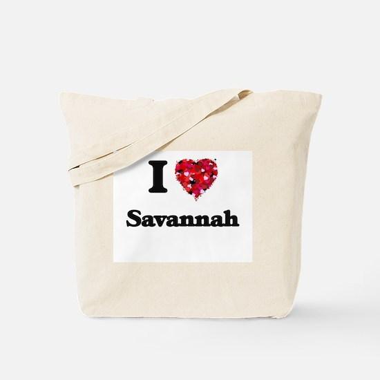 I love Savannah Georgia Tote Bag