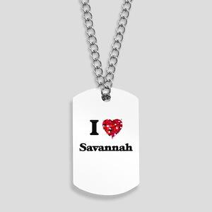 I love Savannah Georgia Dog Tags