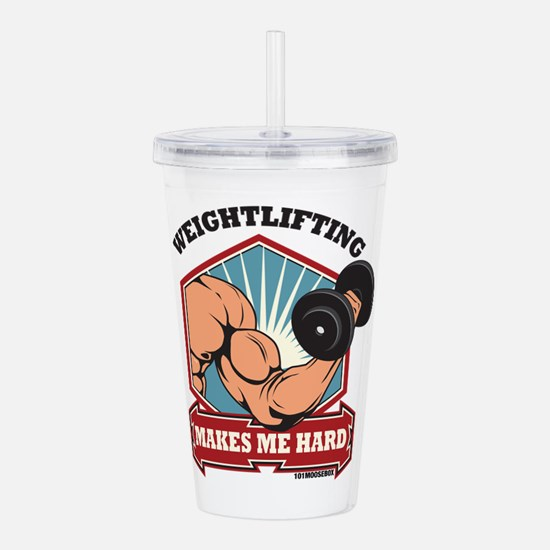 Weightlifting Makes Me Acrylic Double-Wall Tumbler