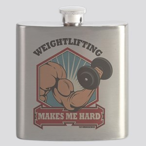 Weightlifting Makes Me Hard Flask