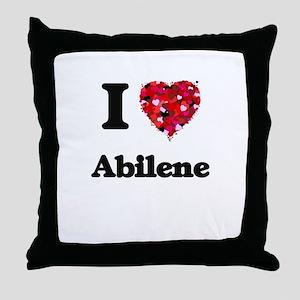 I love Abilene Texas Throw Pillow