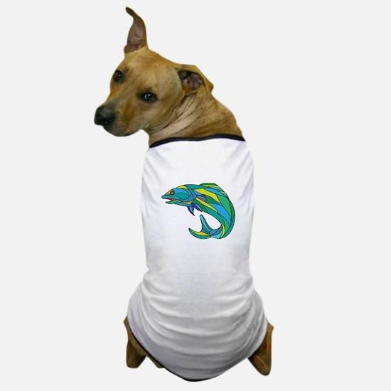 Atlantic Salmon Jumping Drawing Dog T-Shirt