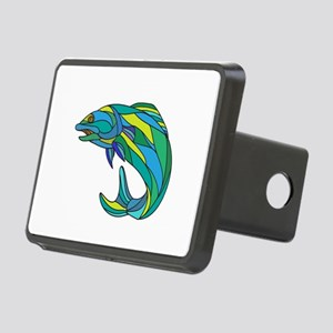 Atlantic Salmon Jumping Drawing Hitch Cover
