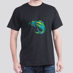 Atlantic Salmon Jumping Drawing T-Shirt