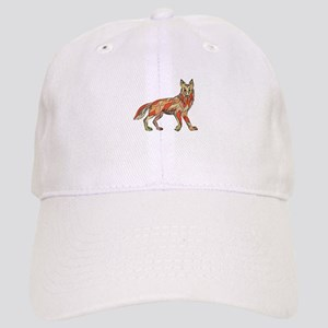 Coyote Side Isolated Drawing Baseball Cap