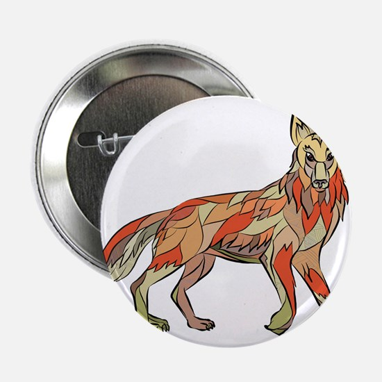 "Coyote Side Isolated Drawing 2.25"" Button (10 pack"