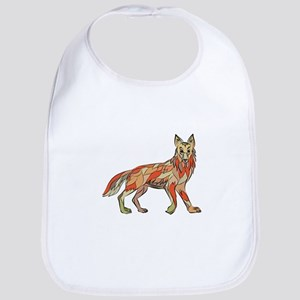Coyote Side Isolated Drawing Bib