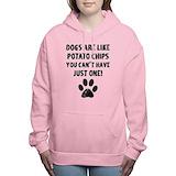 Dogs are like potato chips Hooded Sweatshirt