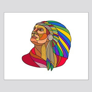 Native American Indian Chief Headdress Drawing Pos