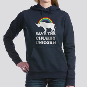 Chubby Unicorn Women's Hooded Sweatshirt