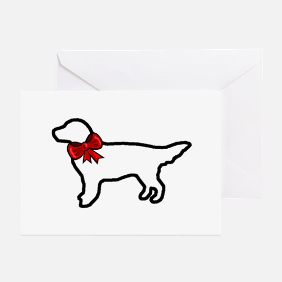 Holiday Golden Retriever Greeting Cards (Package o