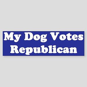 Dog Votes Repub Blue Bumper Sticker