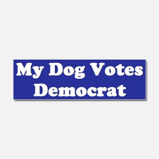 Dog Votes Dem Blue Car Magnet 10 x 3