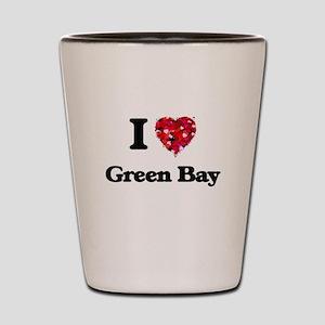 I love Green Bay Wisconsin Shot Glass