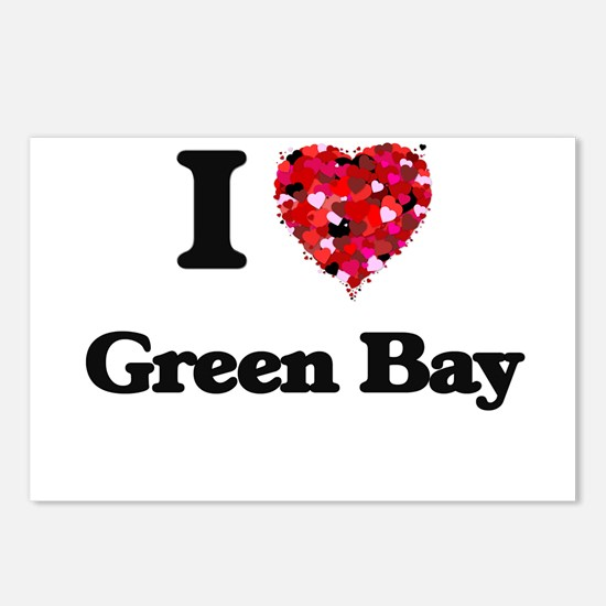 I love Green Bay Wisconsi Postcards (Package of 8)