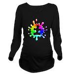 Splat Autism Long Sleeve Maternity T-Shirt