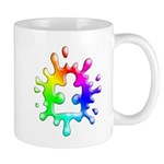 Splat Autism Mugs