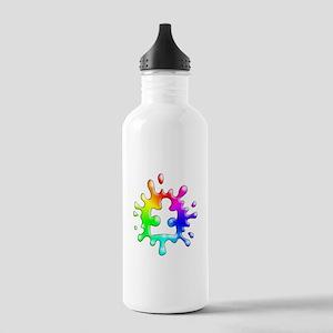 Splat Autism Sports Water Bottle