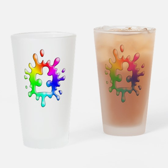 Splat Autism Drinking Glass