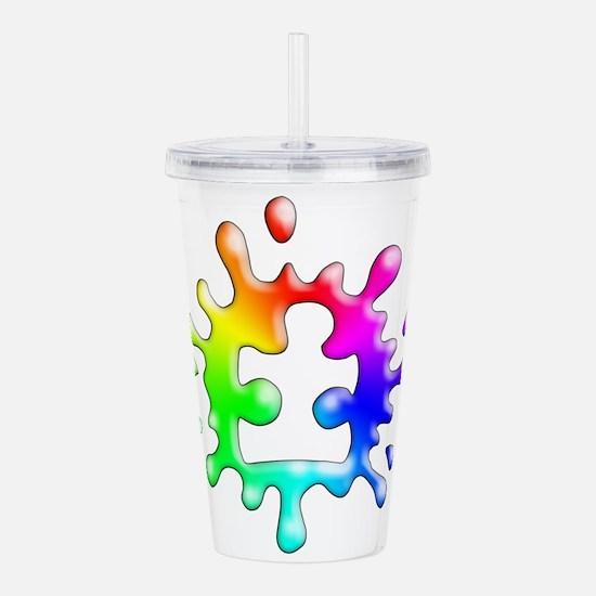 Splat Autism Acrylic Double-wall Tumbler