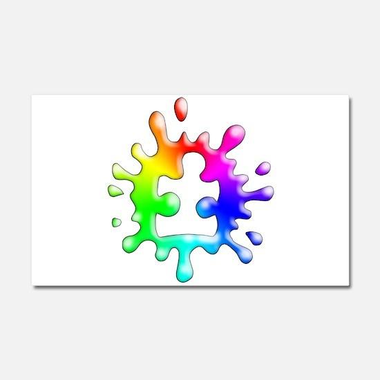 Splat Autism Car Magnet 20 x 12