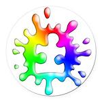 Splat Autism Round Car Magnet