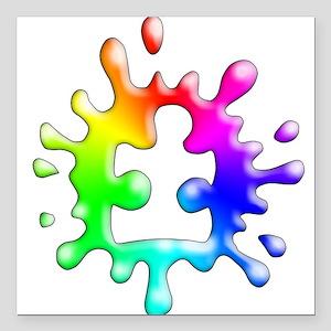 "Splat Autism Square Car Magnet 3"" x 3"""