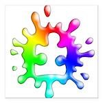 Splat Autism Square Car Magnet 3